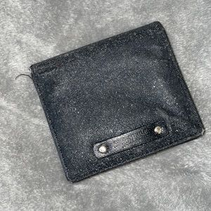 Kate spade black and silver sparkle wallet
